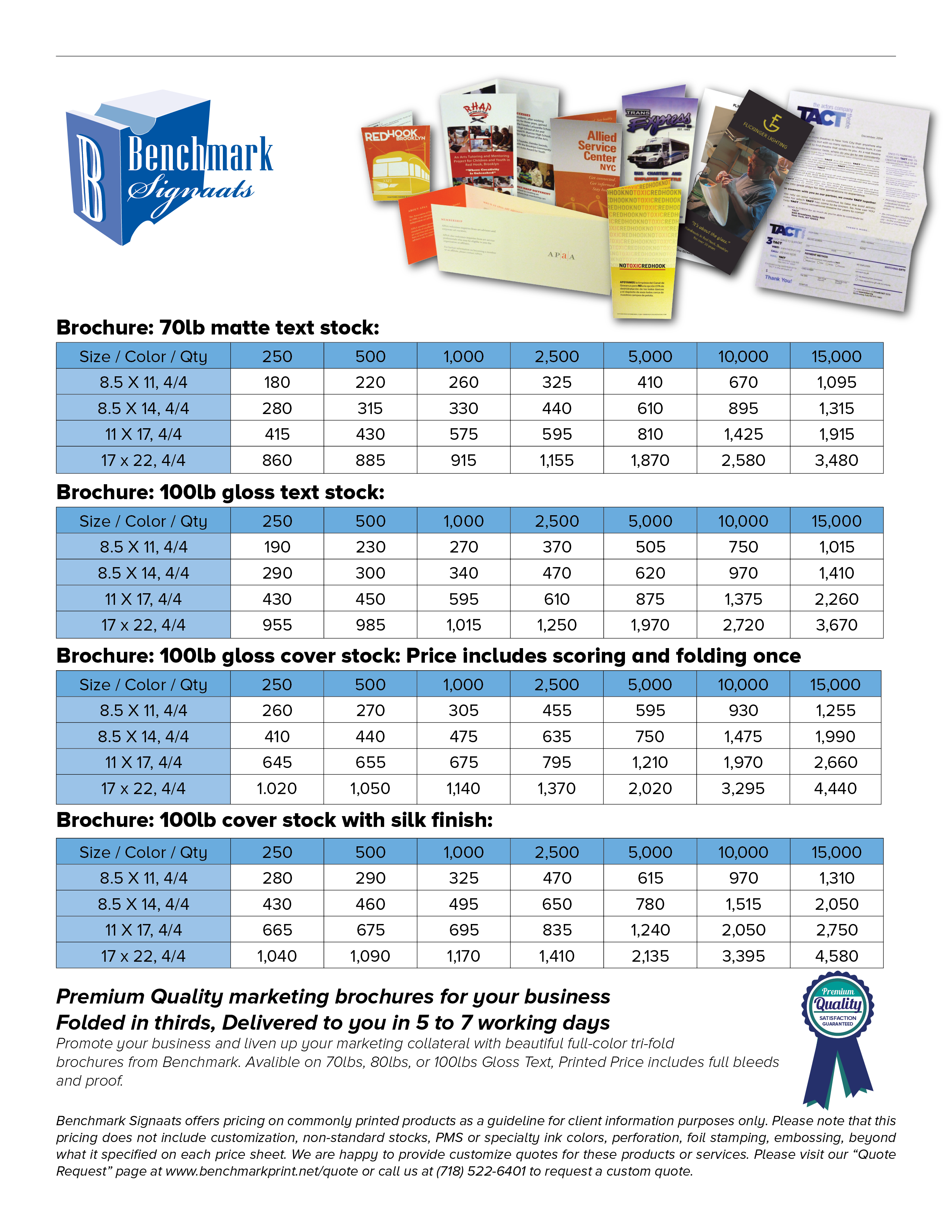 brochure pricing benchmark signaats